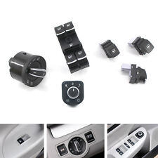 6PCS Chrome Window Headlight Mirror Switch Set for VW Passat B6 CC Golf Jetta US