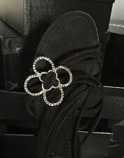 cd6b5eb507b New Louis Vuitton Swarovski Crystals Black Suede Leather Sandals Heels 39.5  9