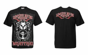 High Quality MMA Unisex Muay Thai Boxing Sport Wear Casual T-Shirt (Black)