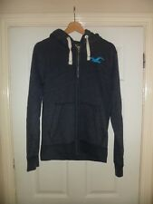 Mens Hollister Blue Cotton Zip Front Hoodie Size Small