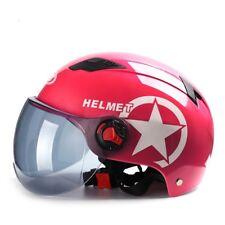 Universal Open Face Half Helmet Motorcycle Scooter Drop Down Sun Visor Googles