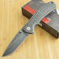 Kershaw Starter 3Cr13 Blackwash Plain Edge Assisted Opening Knife 1301BW