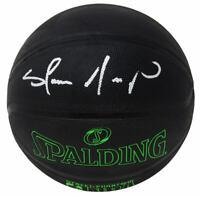 Shawn Kemp SONICS Signed Spalding Phantom Black With Green NBA Basketball- SS