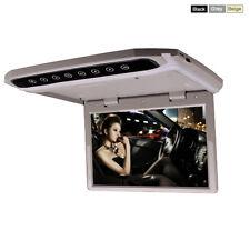15 Inch Car Roof Overhead Flip Down Monitor SD USB HDMI Video Media Player Grey