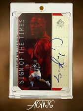 1999 SP Authentic SIGN OF THE TIMES SHAWN KEMP AUTO DIE-CUT BLUE INK
