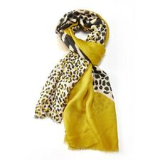 Mustard Yellow Tiger Leopard Scarf Pattern Animal Print Scarves Wrap Shawl New