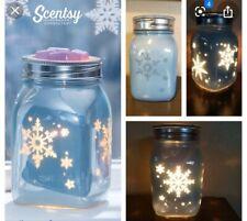 "Scentsy Wax Warmer ""Winter Frost"" ❄️ Mason Jar Wax Element Warmer Scentsy **NEW*"