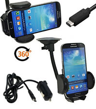 Samsung Galaxy M30 Auto Halterung 360° drehbar +12-24V KFZ Ladekabel Kabel USB-C