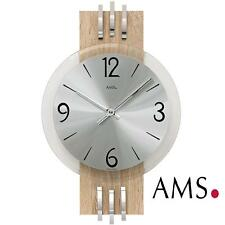 AMS 44 Wall Clock Quartz Watch Kitchen MINERAL GLASS Living Room Office 639