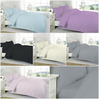 200 Thread Count Egyptian Cotton Duvet Quilt Cover With Pillow Cases All Sizes