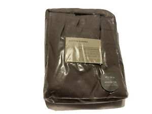 West Elm Cotton Canvas Curtain Set Of 2 Gray NEW Never Opened 48x84