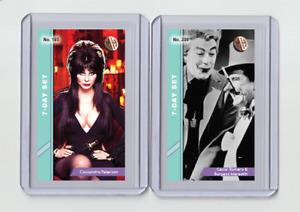 Cassandra Peterson rare MH 7-Day Set #'d 2/3 Tobacco card no. 195