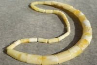 First class Baltic natural marble white amber necklace 24 g. EBAY SHOP 400 ITEMS
