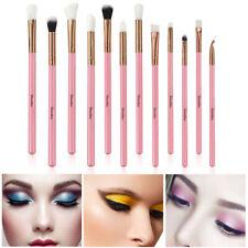 12Pcs Makeup Brushes Foundation Powder Eyeshadow Eyeliner Pink Hot Use