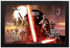 STAR WARS THE FORCE AWAKENS KYLO REN GALAXY 13x19 FRAMED GELCOAT POSTER JEDI NEW