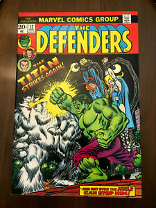 DEFENDERS #12 Hulk Doctor Strange (1974) CLASSIC BRONZE AGE