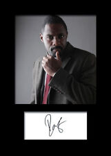 IDRIS ELBA #2 A5 Signed Mounted Photo Print - FREE DELIVERY