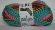lang Yarns super Soxx Color 100g Farbe 903.0003 Gruen-petrol-pink-8-fach