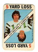 1971 Topps Game Card #3 Joe Namath Jets Nice Card jh16
