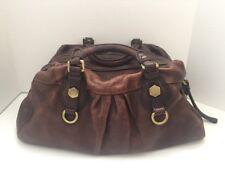 Marc By Marc Jacobs Designer Handbag Satchel Duffle Brown Pebble Leather Purse
