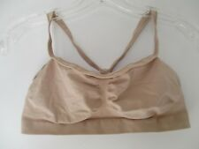 Hanes Women's Size Large Beige Solid Wire Free Full Coverage Bra