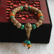 Mala Bodhi Tibetan Buddhist Prayer Beads/Bracelet in Velvet Pouch/FREE P&P/UK
