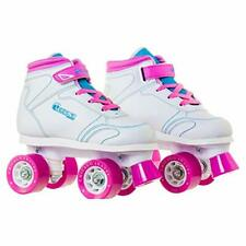 Chicago Girls Sidewalk Roller Skate - White Youth Quad Skates - Size 5