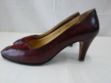 scarpe Pierre Rousseau donna vintage vera pelle liscia misura 36,5