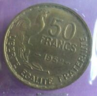 50 Francs 1952 G Guiraud : TTB : pièce de monnaie Française N8