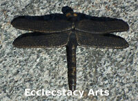 Dragonfly Incense Burner Japanese Incense Sticks- Paper Weight, Black Cast Iron