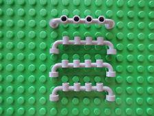 Lego 4 x Absperrung Zaun 6140 alt hellgrau 1x6 6554 5571 6426 6636