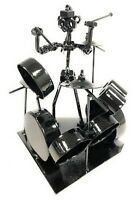 NUTS AND BOLTS DRUMMER METAL FIGURINE SCULPTURE ART GIFT