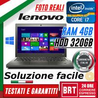 "PC NOTEBOOK PORTATILE LENOVO THINKPAD X240 12.5"" CPU i7 4° RAM 4GB HDD 320GB_24H"