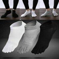 3Paare Atmungsaktive Herren Baumwolle Socken Reine Sport Fünf Finger Socken T3S0