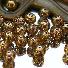 """20 Perles Boules Métal FILIGRANES  """"Doré""""  Ø 6 mm"""