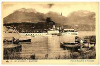 CPA 74 Haute-Savoie Lac d' Annecy St-Jorioz Port et Massif de la Tournette animé