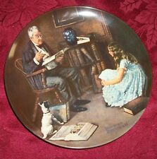 "Norman Rockwell ""The Story Teller Plate By Knowles, 8.5""D, 1984"