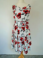 Kaleidoscope Dress Size 14 Lined Floral Holiday Weekend Trip Smart Casual
