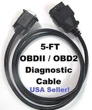 15 Pin Female Obd2 Obdii Cable Compatible With Autel Maxidiag Elite Md802 Tool