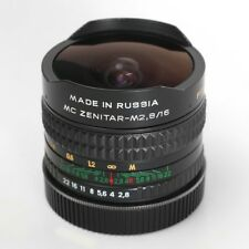 Zenitar 16 mm 2.8 MC FishEye 180° View Manual Lens M42 mount