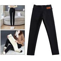 Pantalon legging extensible chaud épais d'hiver pour femmes avec doublure en
