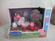 Peppa Magical Unicorn Playset Figura Juguete's paquete Peppa Pig Suzie Nuevo Conjunto de Regalo