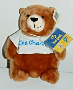 "Build A Bear Charmin Logo Plush Bear Cha Cha Cha Shirt With Expired Bear Bux 9"""