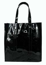TWELVE NYC Black Patent Faux Leather Tote MSRP$35.00