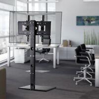 "Floor TV Stand with Tilt & Swivel Mount Bracket for 32""-65 Flat Panel Television"