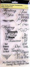 Bereavement Sympathy Sayings Recollections Clear Acrylic Stamp Set 296511 NEW!