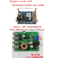 DC-DC 7-60 & 24V/12V to 5V 5A 4USB Step down Output Buck Converter Power Supply