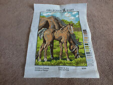 """Collectible Needlepoint Sampler Worked Ready to Frame Horse Colt 11 3/4 x 8 1/2"""""""