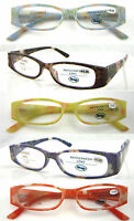 L332 Women' Plastic Reading Glasses/Pretty Floral Pattern/Spring Hinges Designed