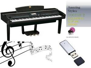 CLAVINOVA CVP 500 600 SERIES USB-Stick+AMAZING Song Styles VOLUME 2 NEW